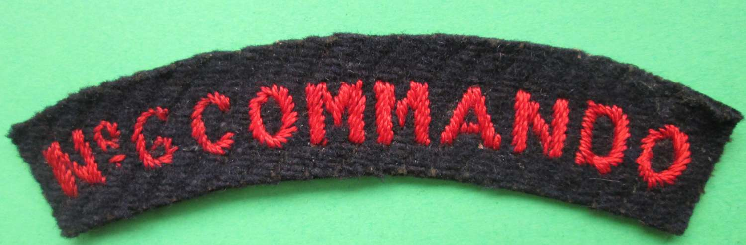 SHOULDER TITLE FOR THE NUMBER 6 COMMANDO GROUP