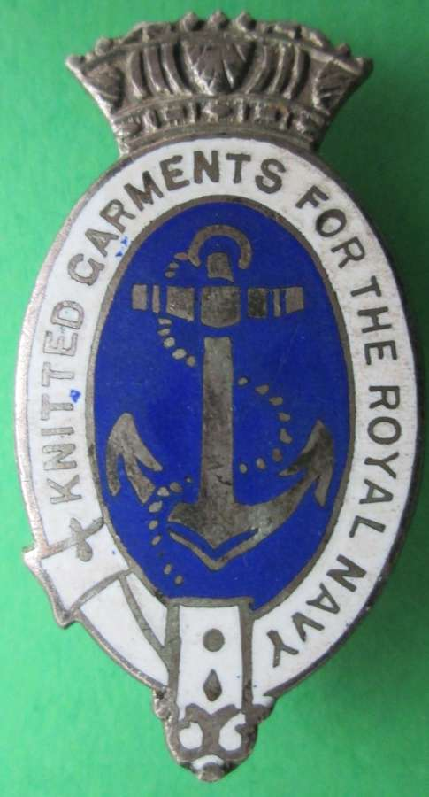 A KNITTED GARMENTS FOR THE ROYAL NAVY PIN BROOCH