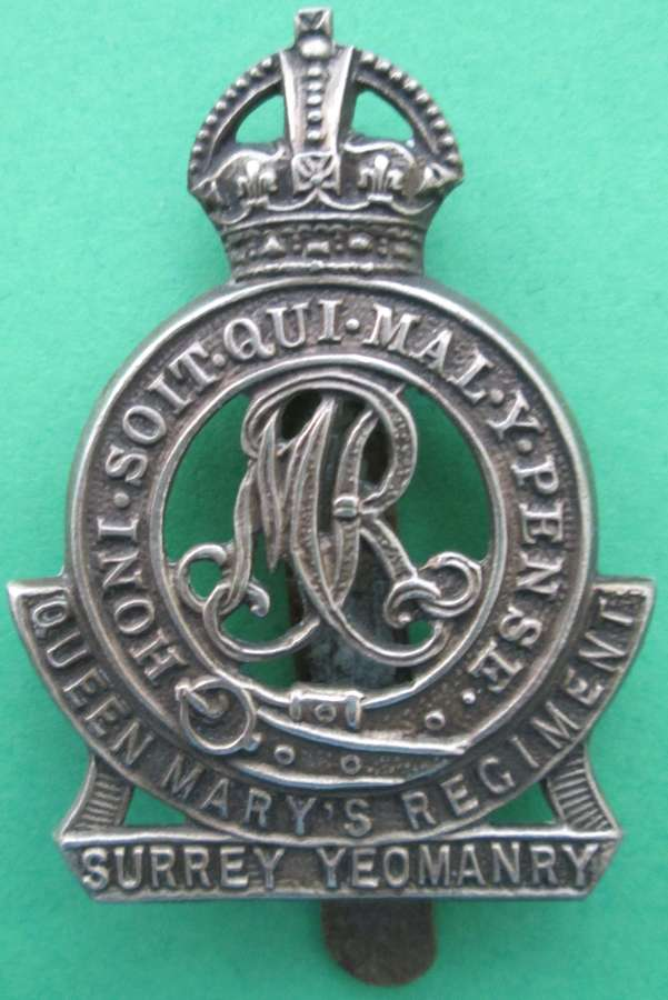 THE QUEEN MARY'S SURREY YEOMANRY (LANCERS) CAP BADGE