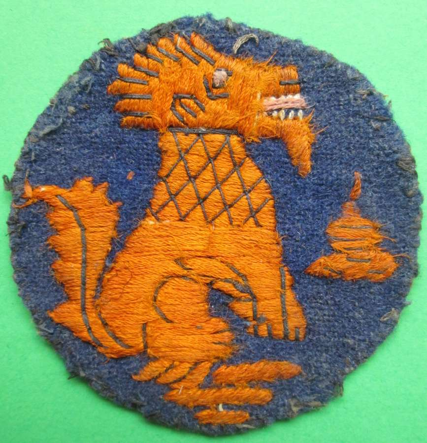 A GOOD WWII CHINDIT ARM PATCH