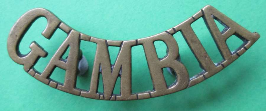 A WWII PERIOD SCARCE GAMBIA SHOULDER TITLE 2 AVLABLE