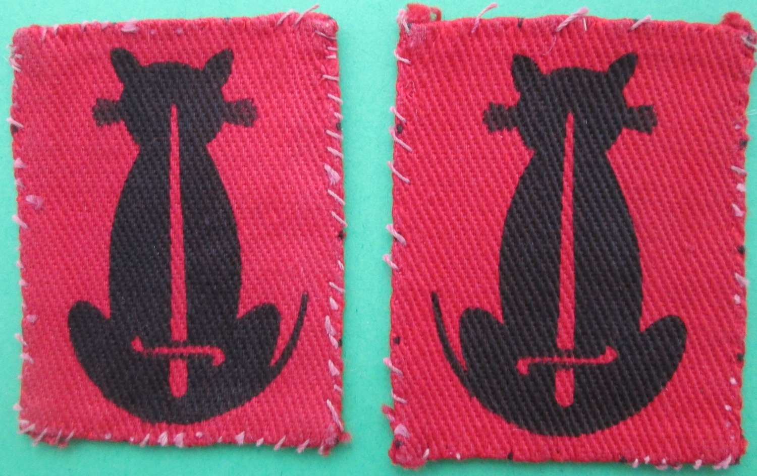 A PAIR OF 56TH (LONDON) ARMOURED DIVISION 2ND PATTERN FORMATION SIGNS