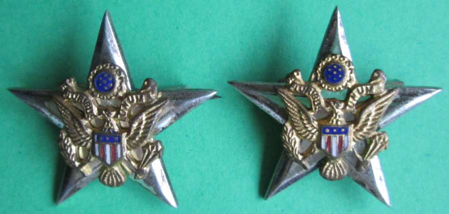 A PAIR OF GENERAL'S STARS