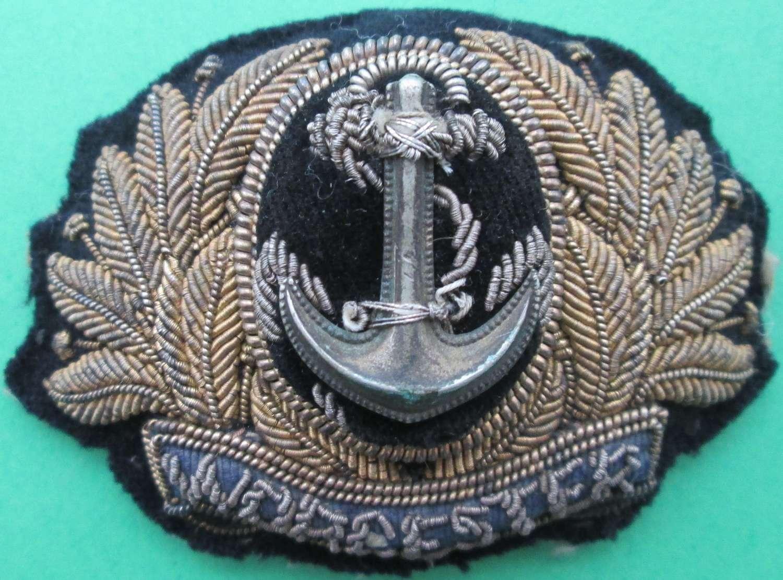 WORCESTER ( TRAINING ESTABLISHMENT ) OFFICER'S BULLION CAP BADGE