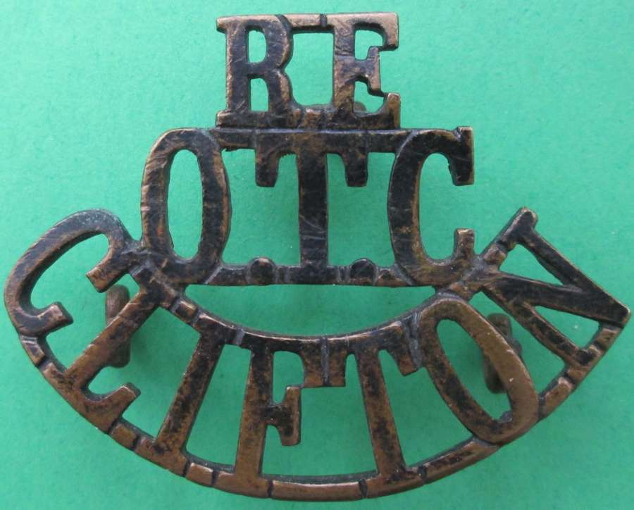 AN ENGINEER COMPANY CLIFTON O.T.C SHOULDER TITLE