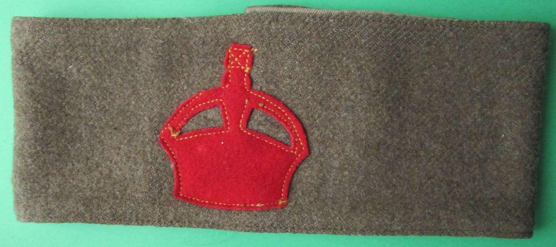 A WWI DERBY SCHEME ARM BAND