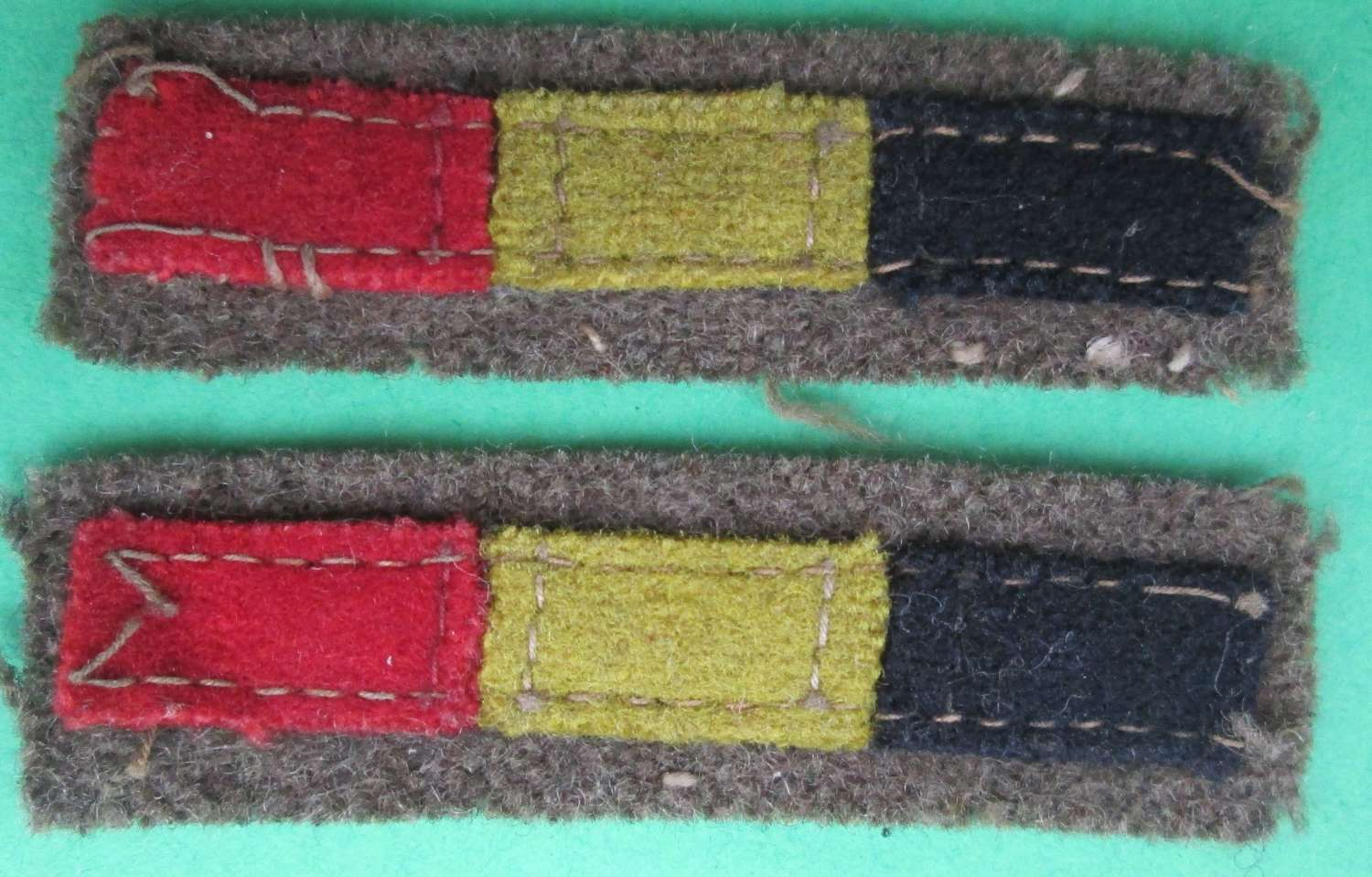 A PAIR OF REME SERVICE STRIPS