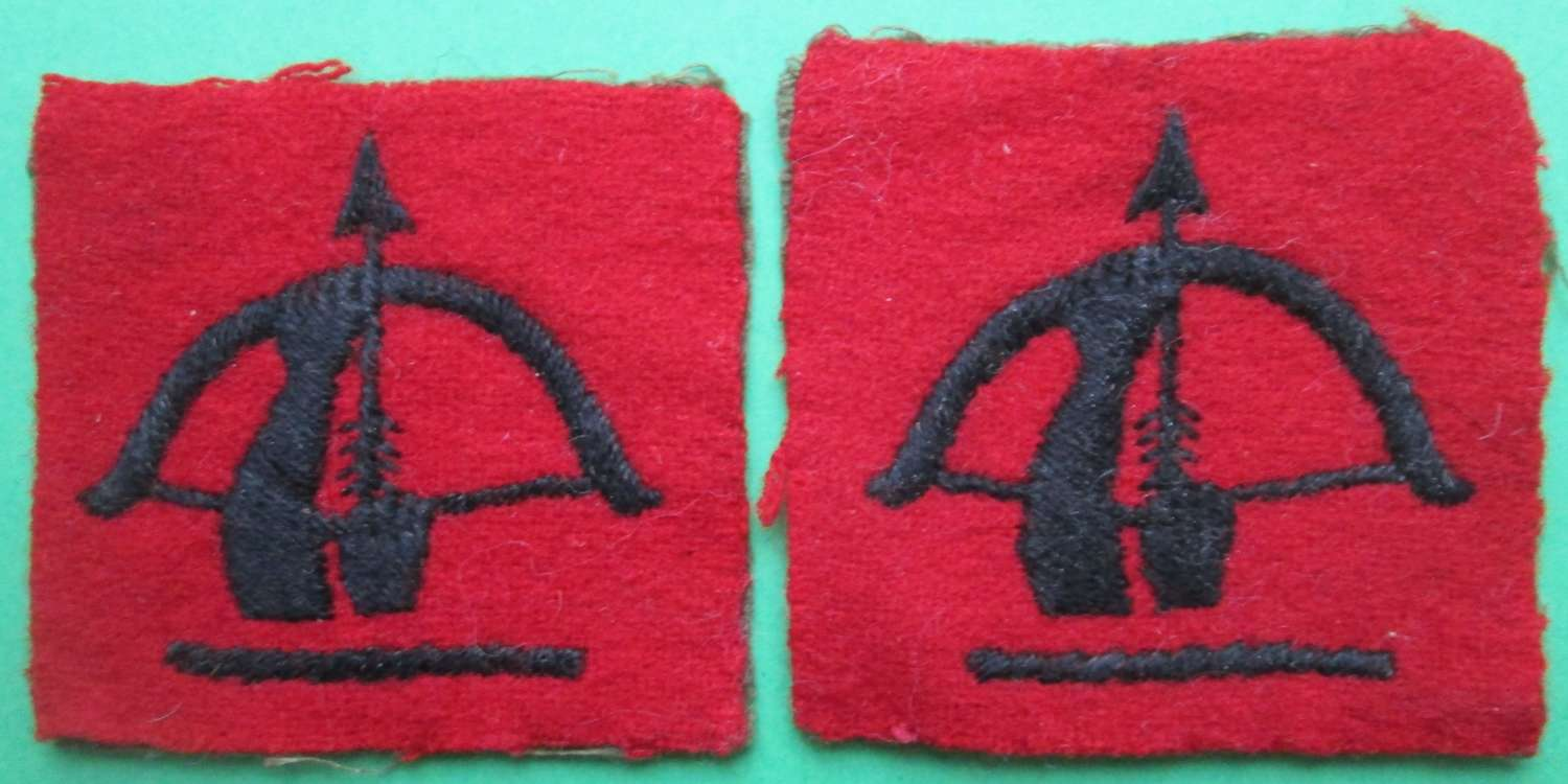 A PAIR OF ANTI AIRCRAFT COMMAND FORMATION SIGNS
