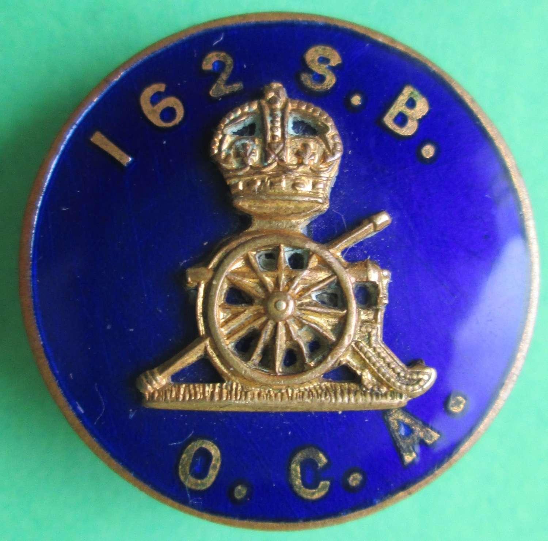 162nd SIEGE BATTERY OLD COMRADES ASSOCIATION LAPEL BADGE
