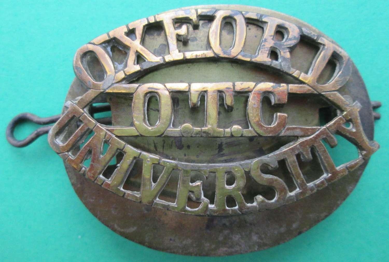AN OXFORD UNIVERSITY OTC METAL TITLE