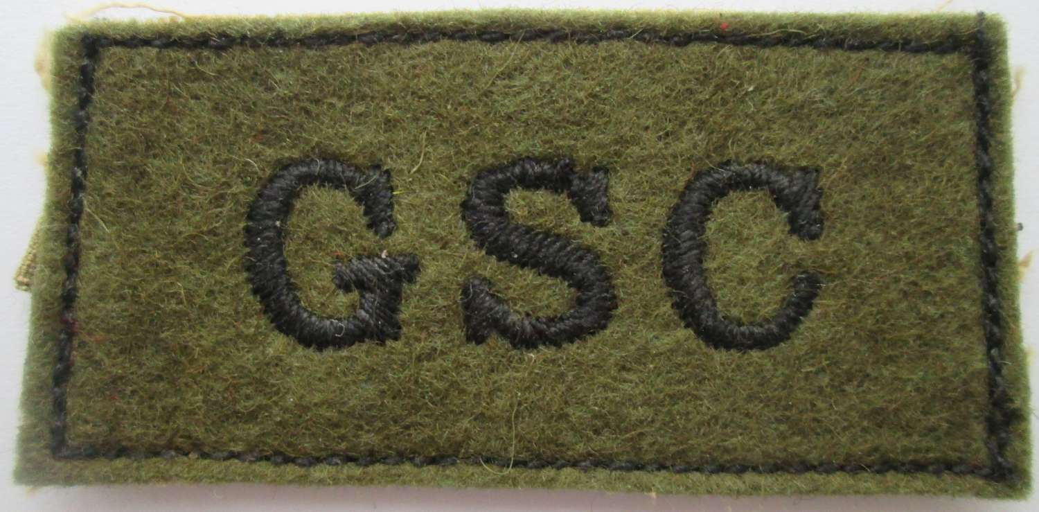 A GOOD NEAR MINT EXAMPLE OF THE GENRAL SERVICE CORPS SLIDE ON TITLE