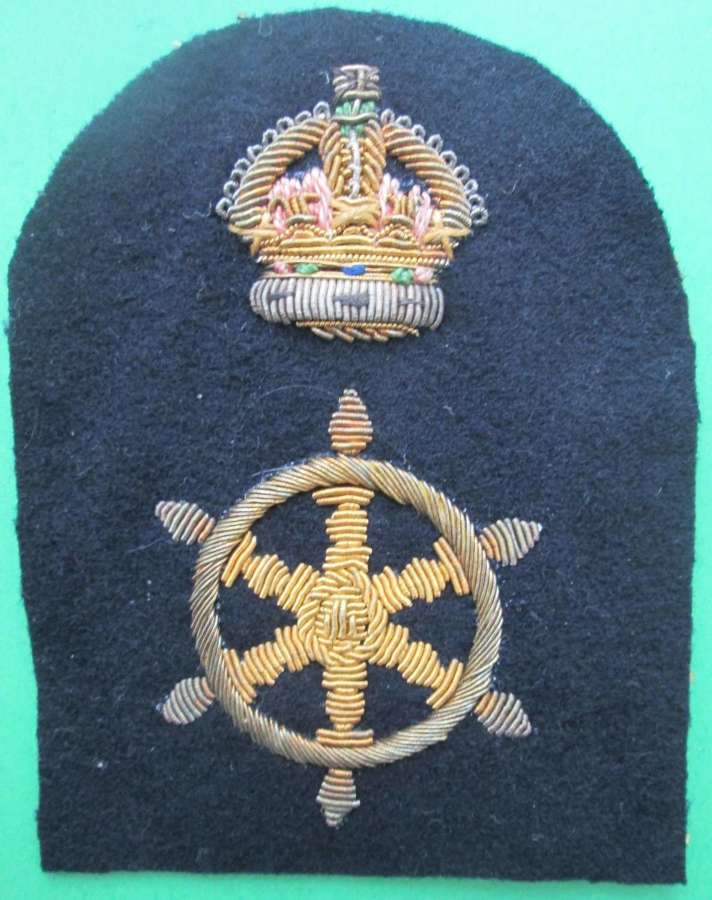 A ROYAL NAVAL LEAD RATINGS COXSWAIN BADGE