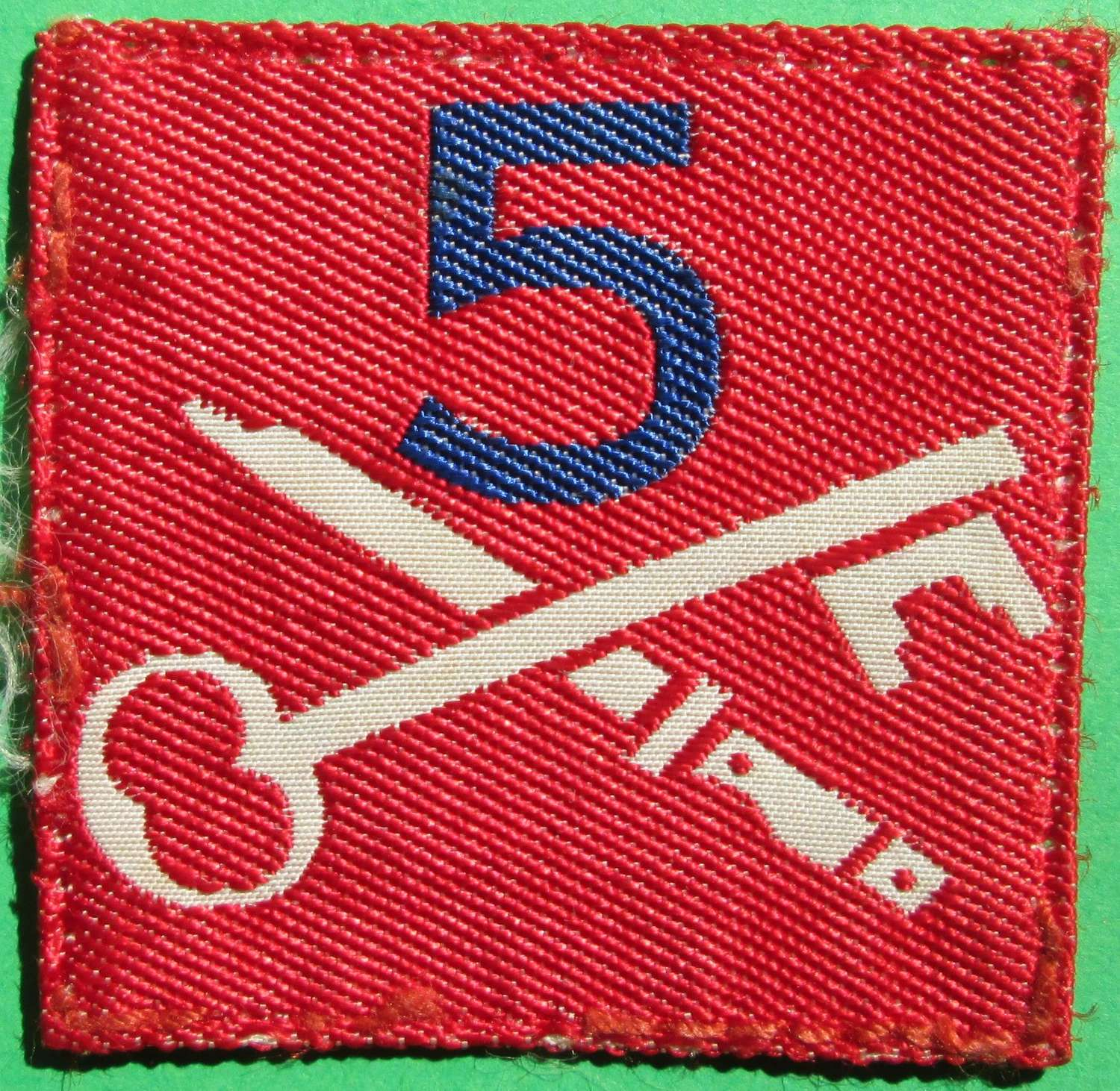 A 5TH INFANTRY BRIGADE 2ND PATTERN FORMATION SIGN