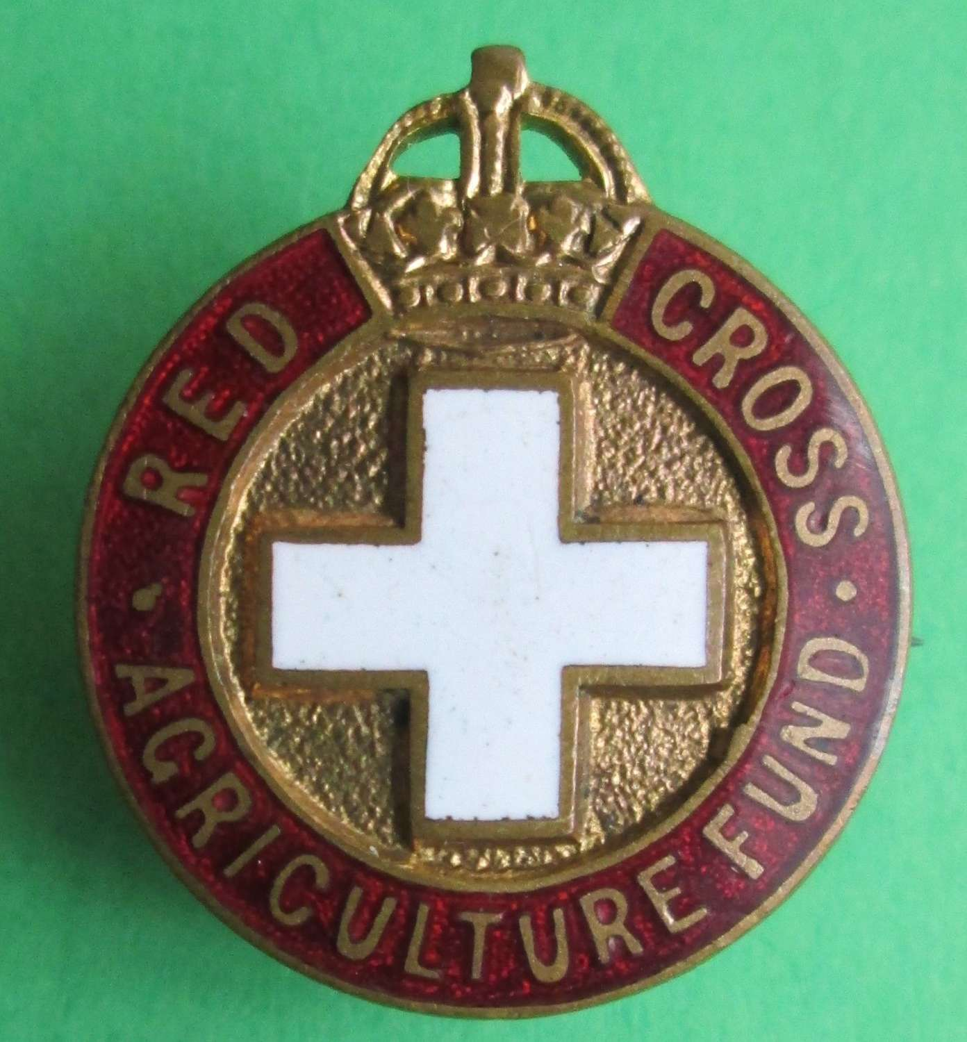 PIN BADGE FOR THE RED CROSS AGRICULTURE FUND