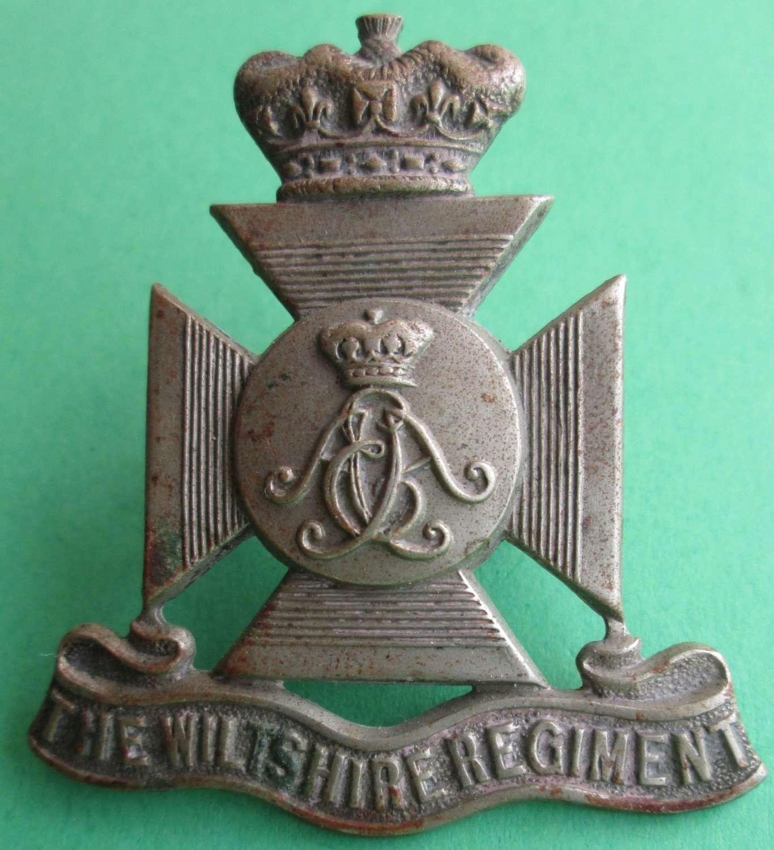 WILTSHIRE REGIMENT VOLUNTEERS PRE 1908 CAP BADGE