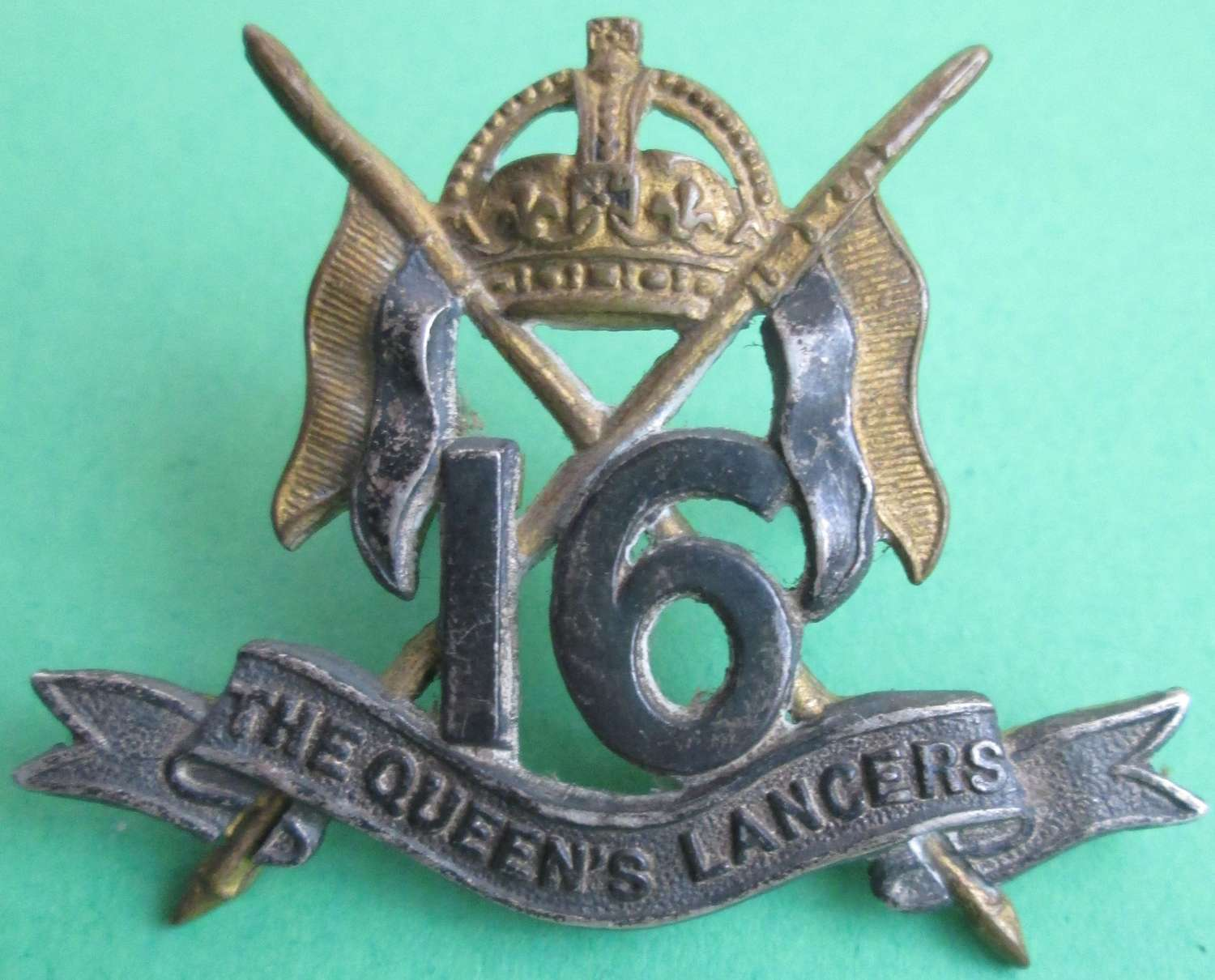 THE 16TH QUEEN'S LANCERS MARKED S FOR SILVER WWII EXAMPLE