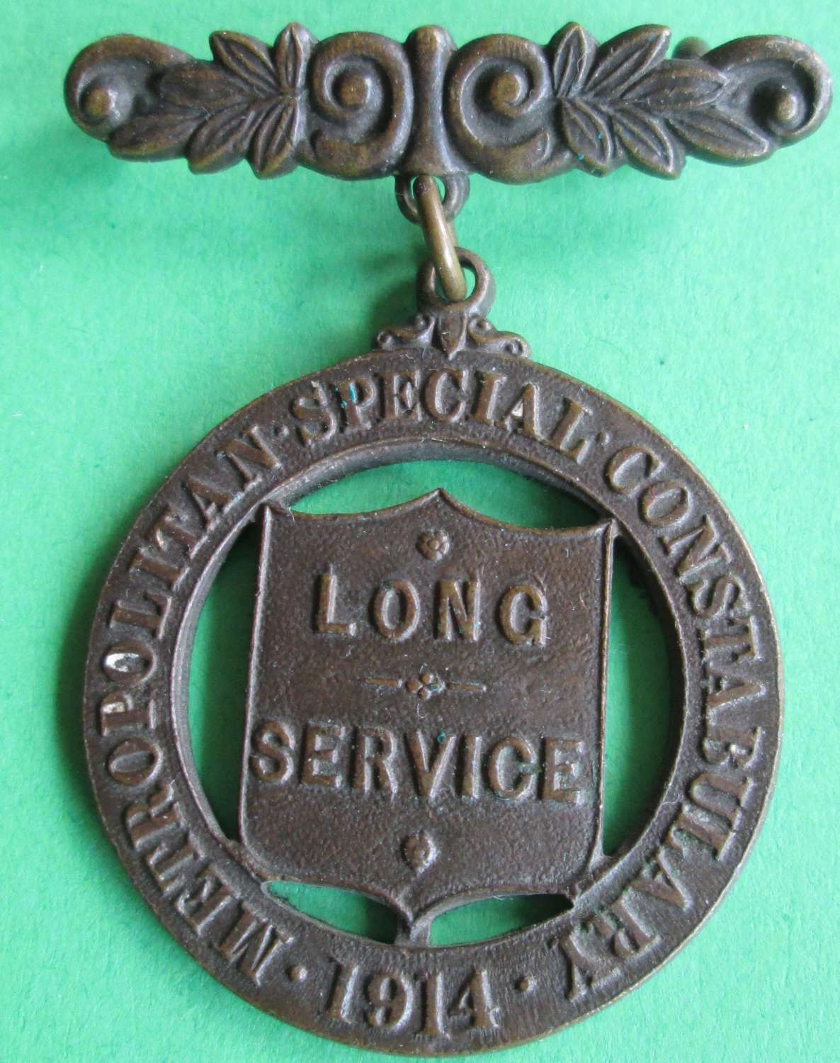 A WWI BRONZE SPECIAL CONSTABULARY LONG SERVICE MEDAL
