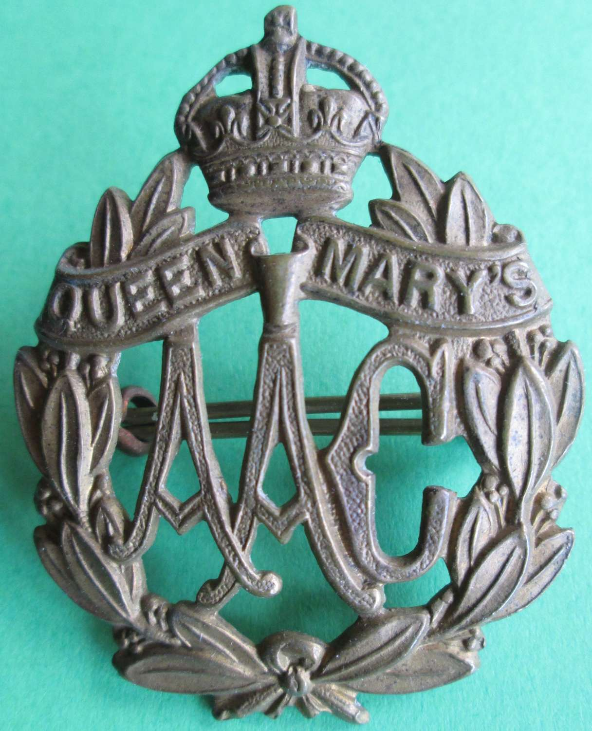 CAP BADGE FOR QUEEN MARY'S ARMY AUXILIARY CORPS
