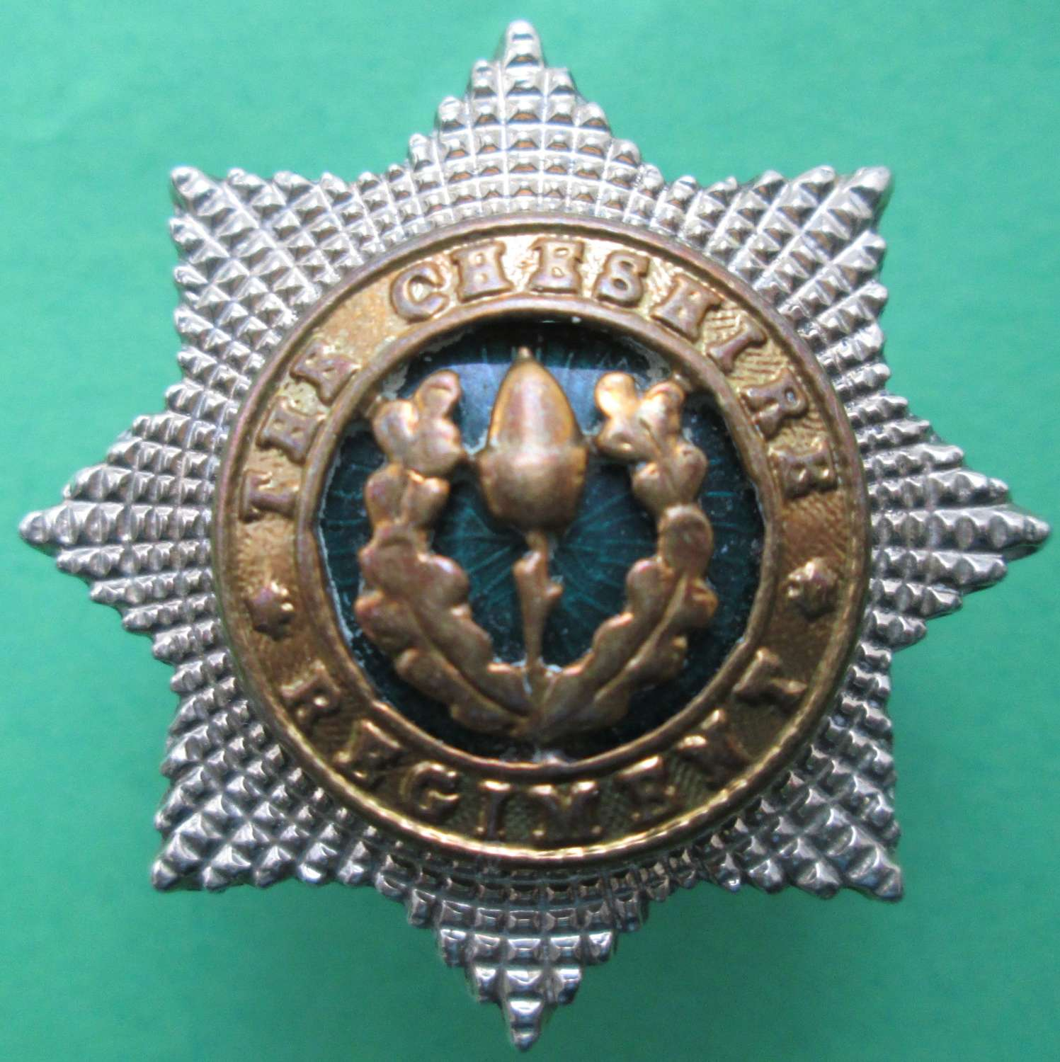 SILVER PLATED OFFICER'S CHESHIRE REGIMENT COLLAR