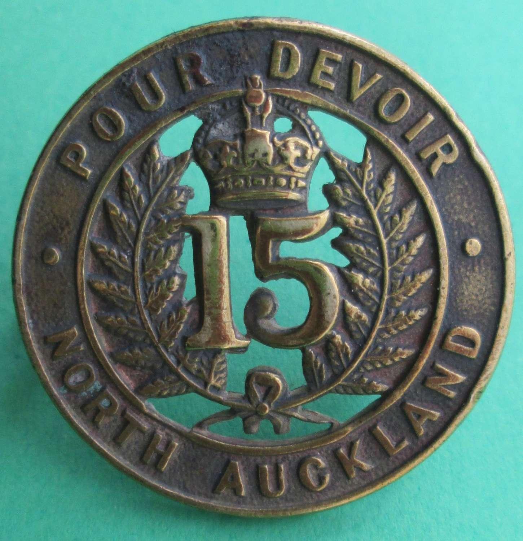 15TH NORTH AUCKLAND REGIMENT BADGE