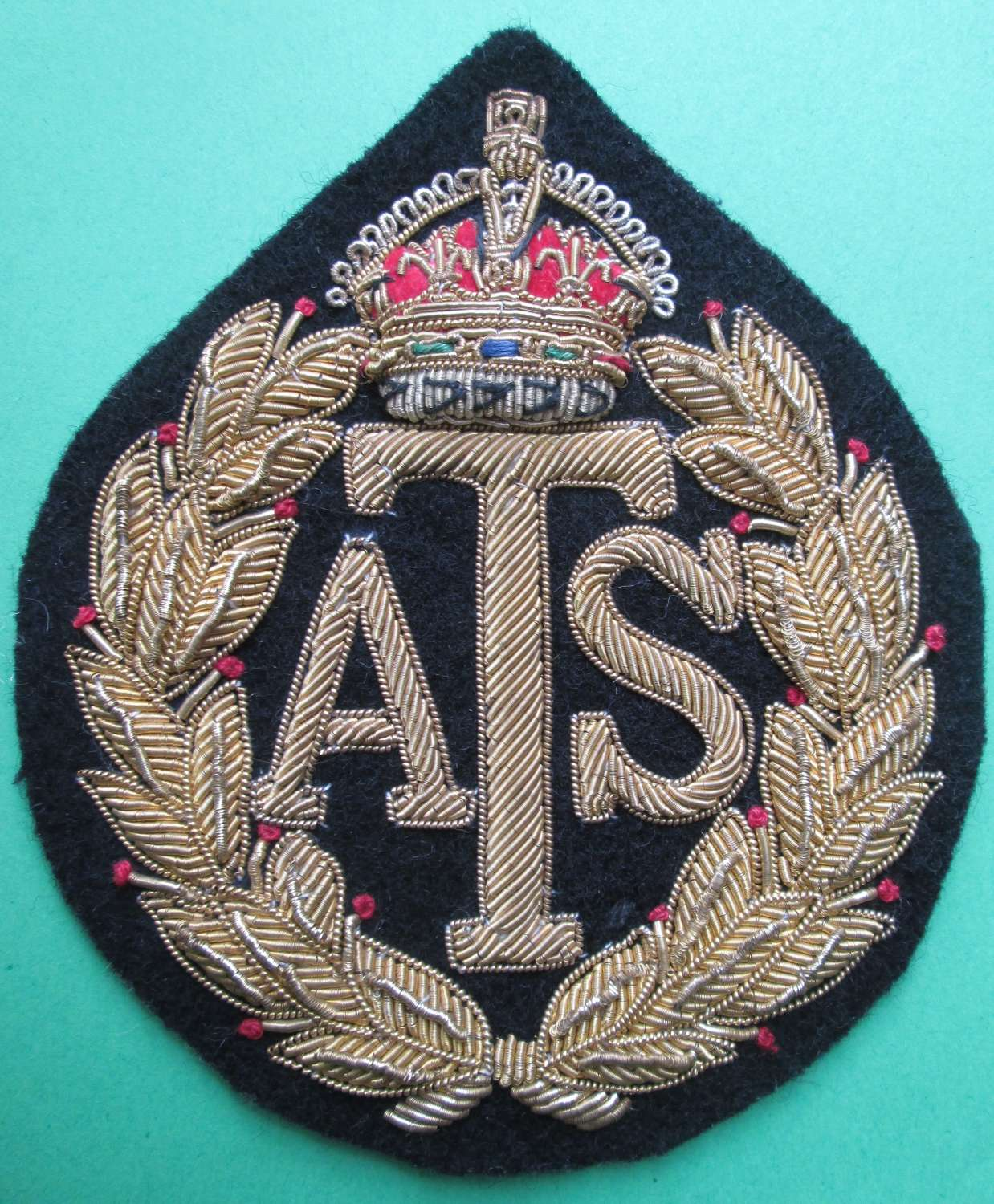 AN ATS BREAST BADGE IN BULLION WIRE