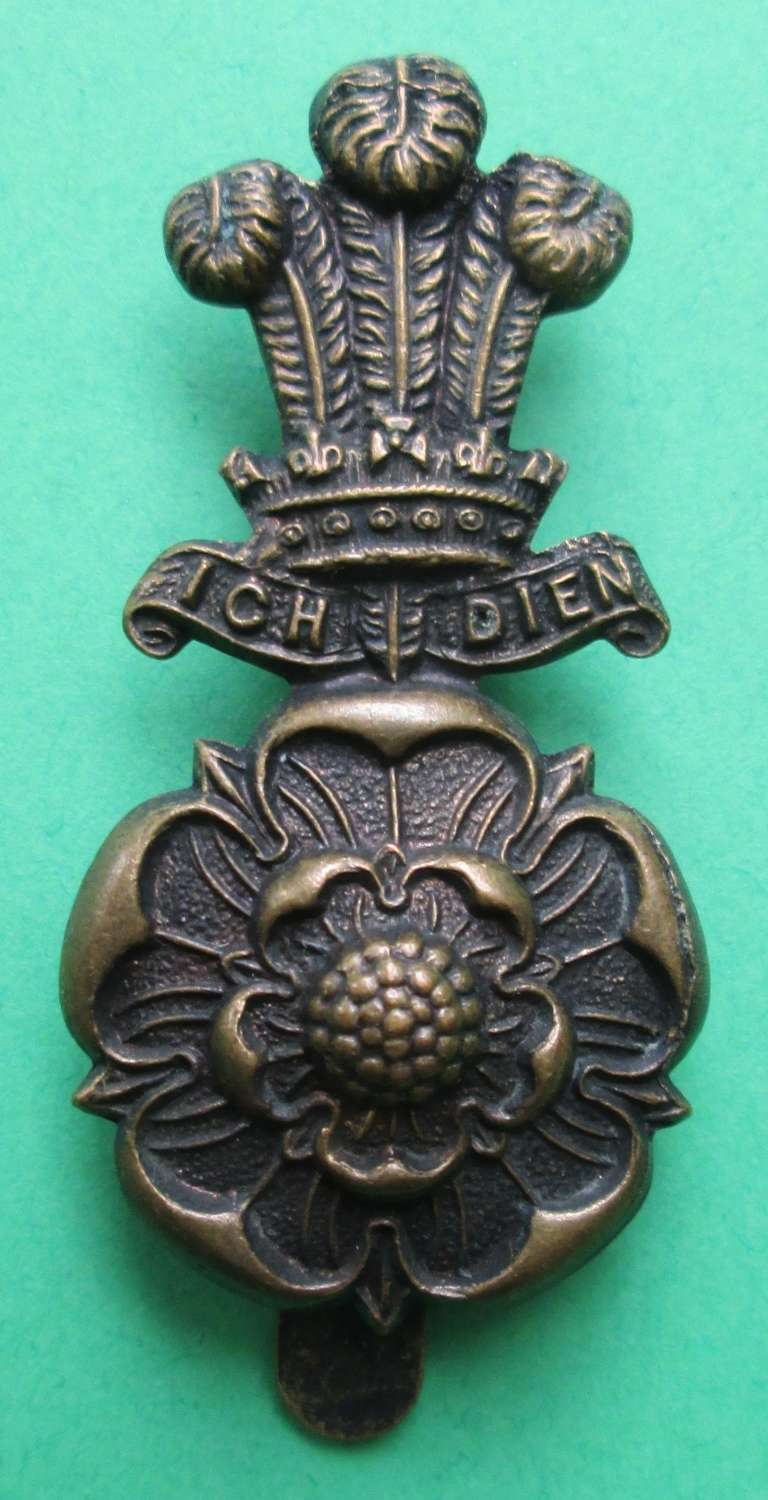 A PRINCE OF WALES YORKSHIRE HUSSARS CAP BADGE