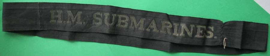 WWII CAP TALLY FOR H.M.S SUBMARINES