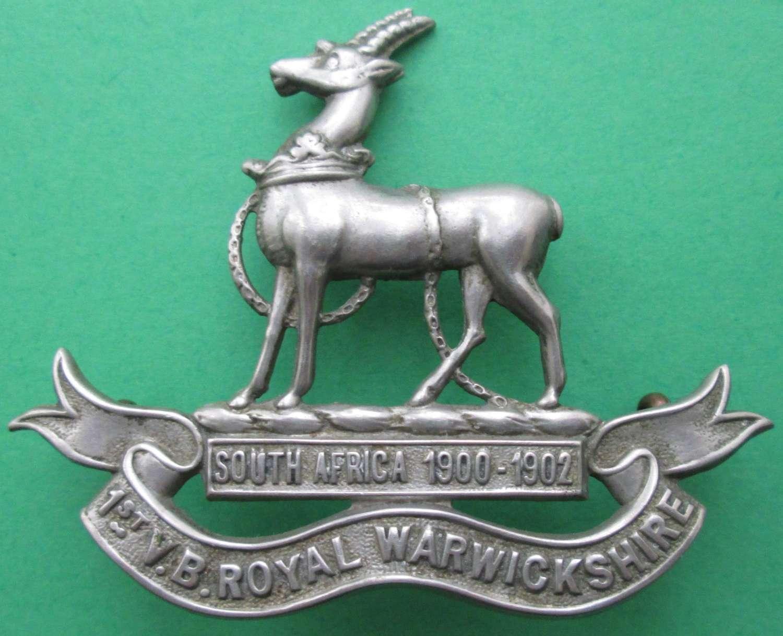 1ST VOLUNTEER BATTALION ROYAL WARWICKSHIRE REGIMENT CAP BADGE