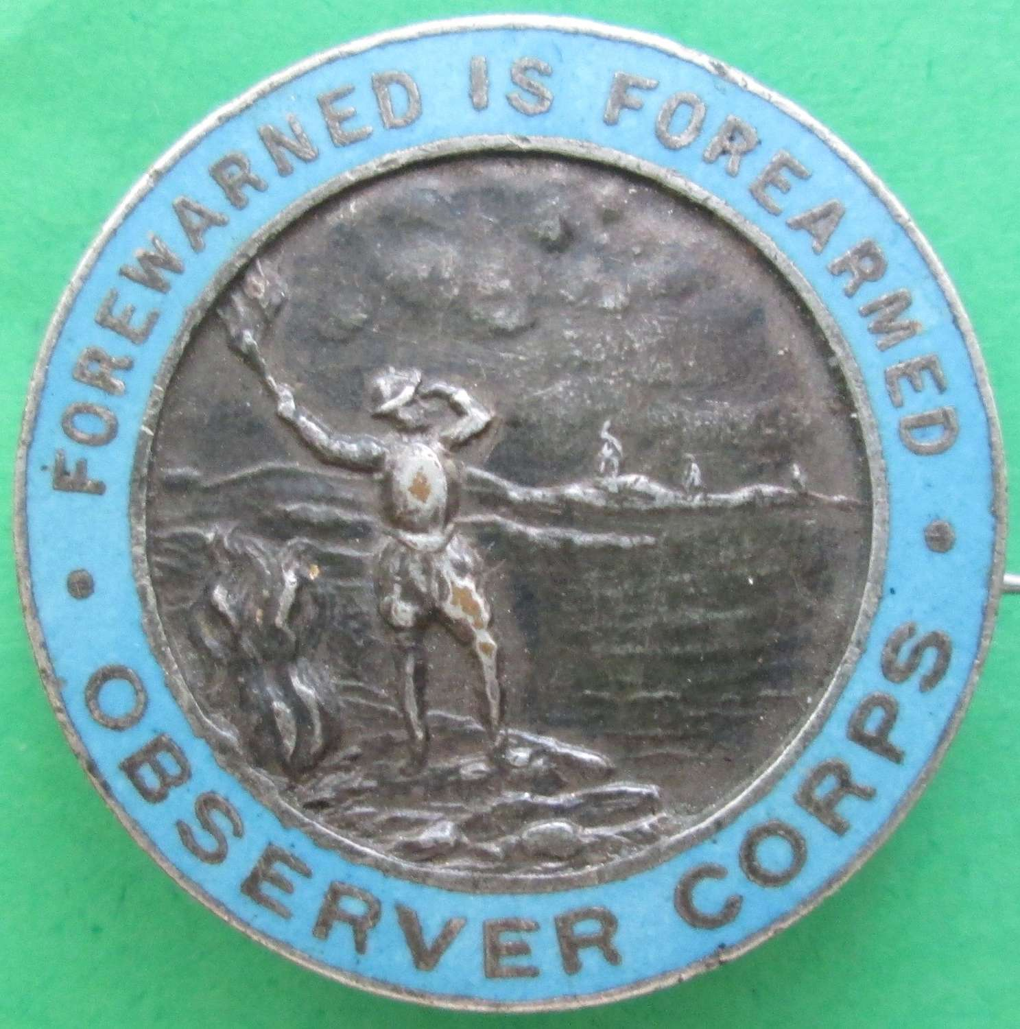 AN OBSERVER CORPS PIN BADGE