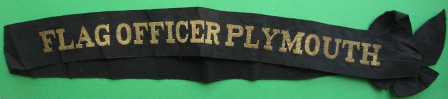 FLAG OFFICER PLYMOUTH CAP TALLY