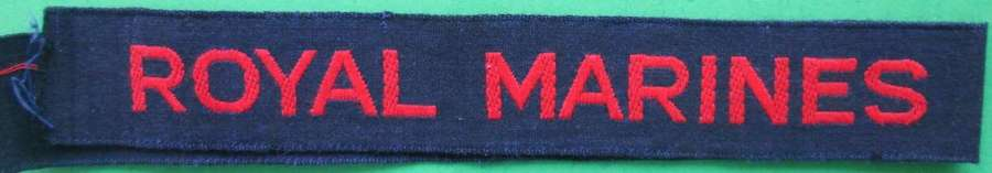 WWII ROYAL MARINES CASH TAPE