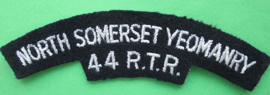 NORTH SOMERSET YEOMANRY 44 R.T.R SHOULDER TITLE