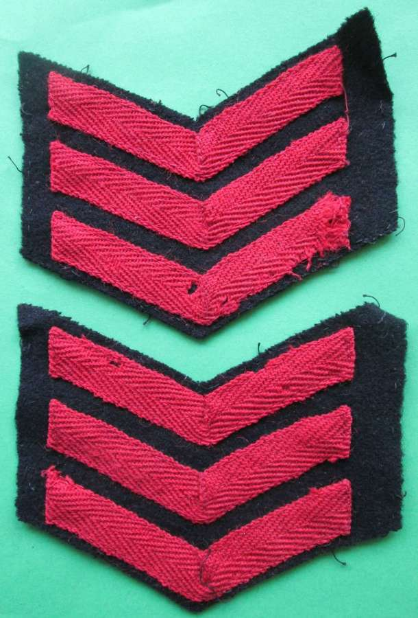 A PAIR OF WWII FIRE GUARD'S INSTRUCTION STRIPS