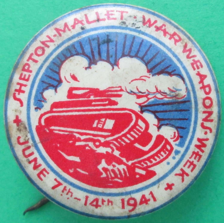SHEPTON MALLET WAR WEAPONS WEEK BADGE