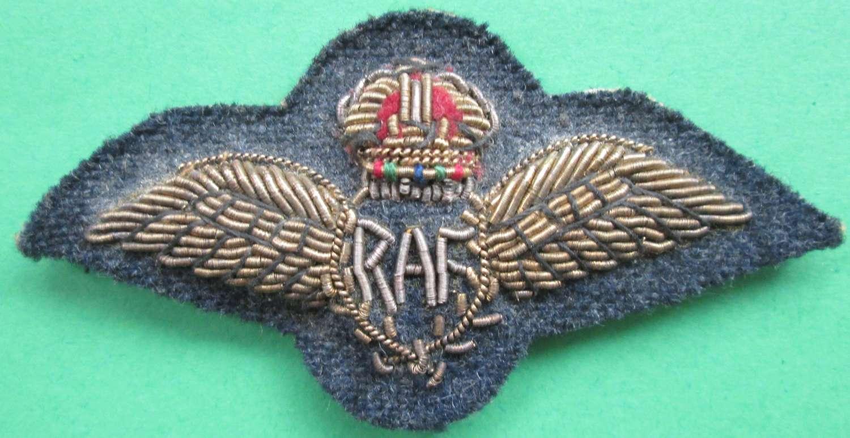 RAF PILOTS WINGS