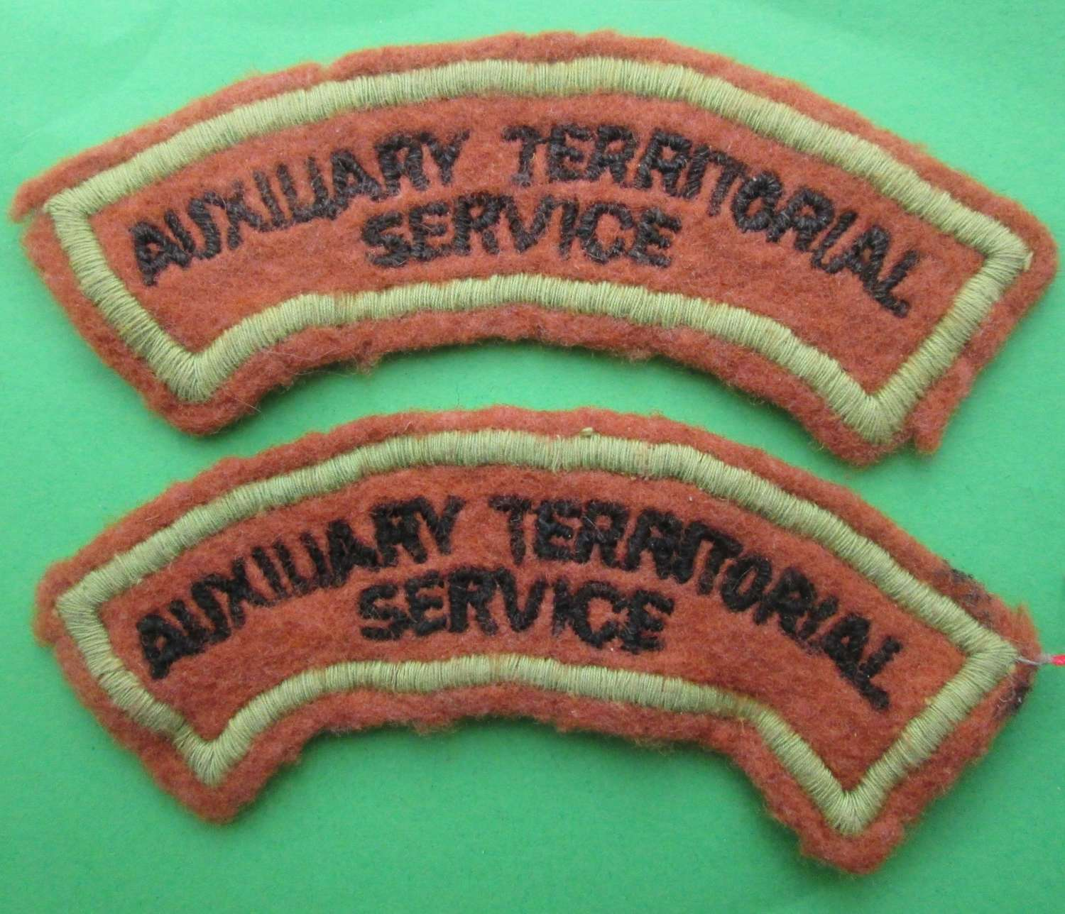 AUXILLIARY TERRITORIAL SERVICE SHOULDER TITLES