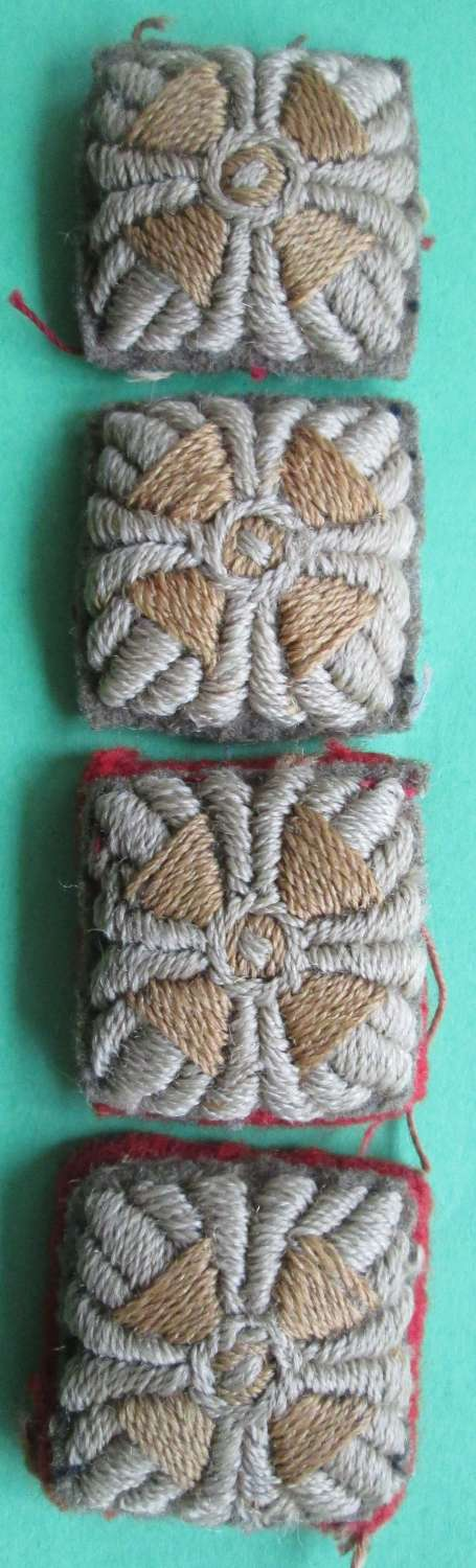 A GROUP OF 4 WWI PERIOD OFFICERS CUFF RANK PIPS