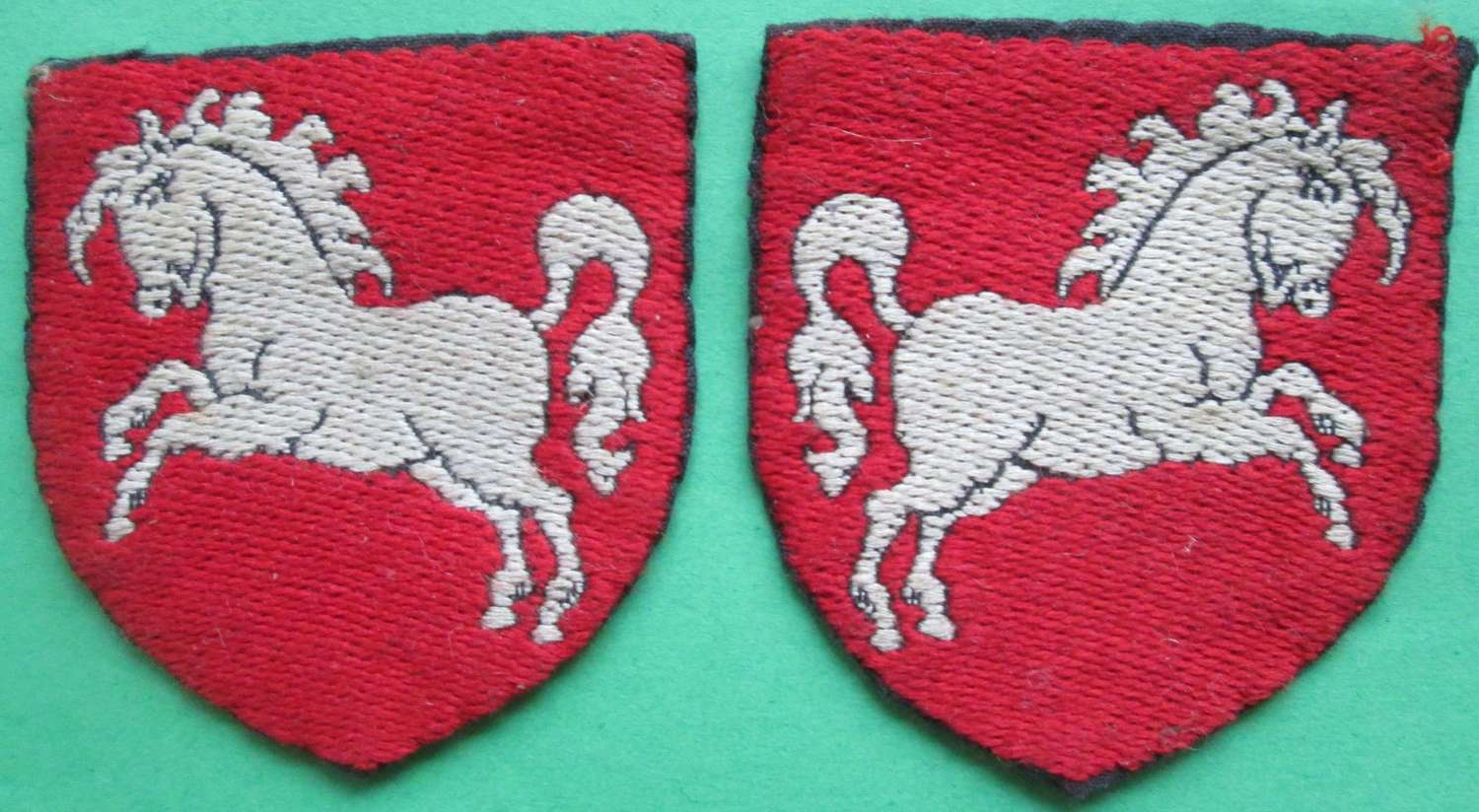 A PAIR OF POST WAR BOAR HANOVER DISTRICT FORMATION SIGNS