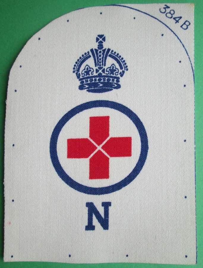 WWII REGISTERED NURSE SICK BERTH BRANCH NAVAL BADGE