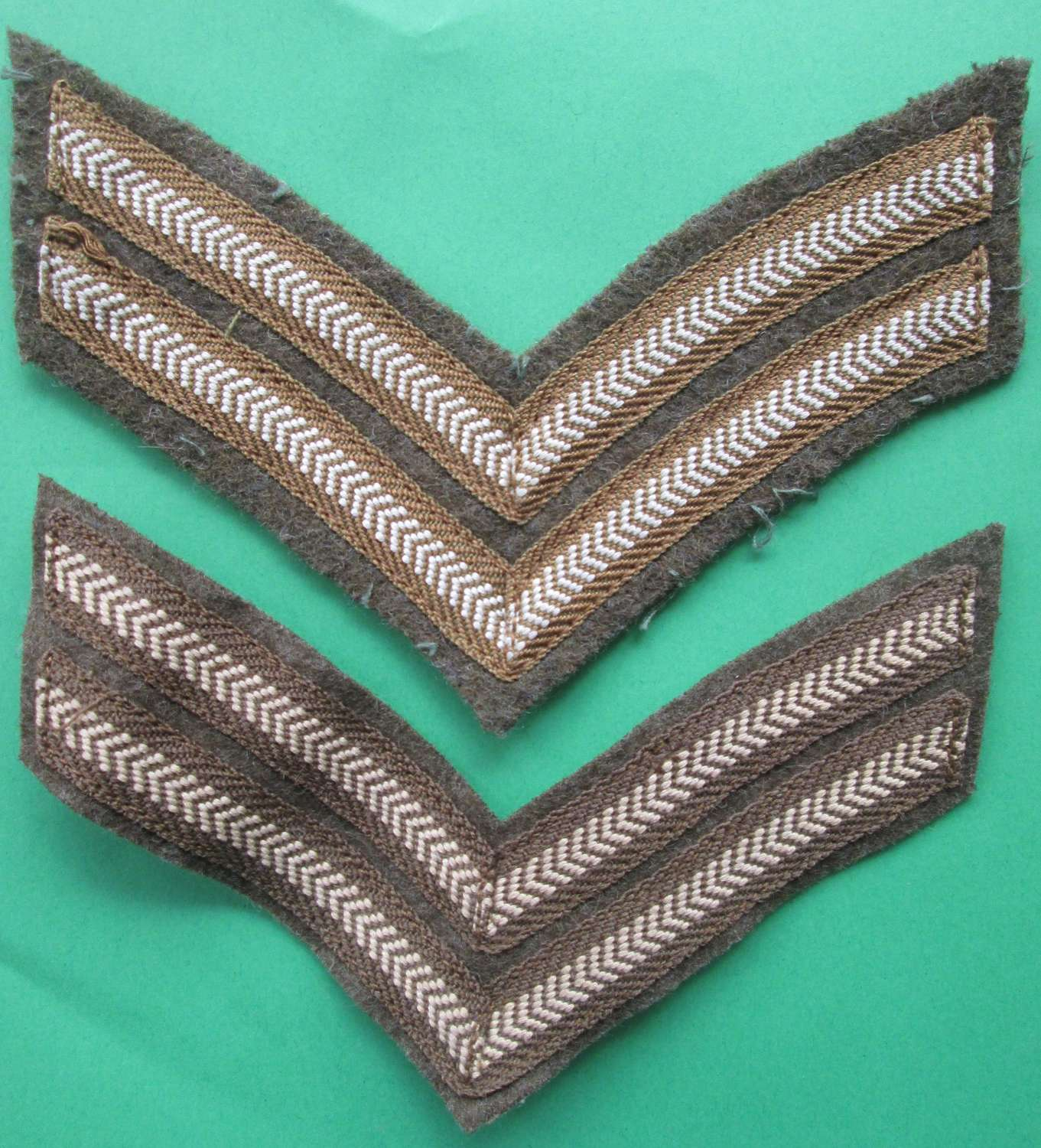 A PAIR OF CORPORALS STRIPS
