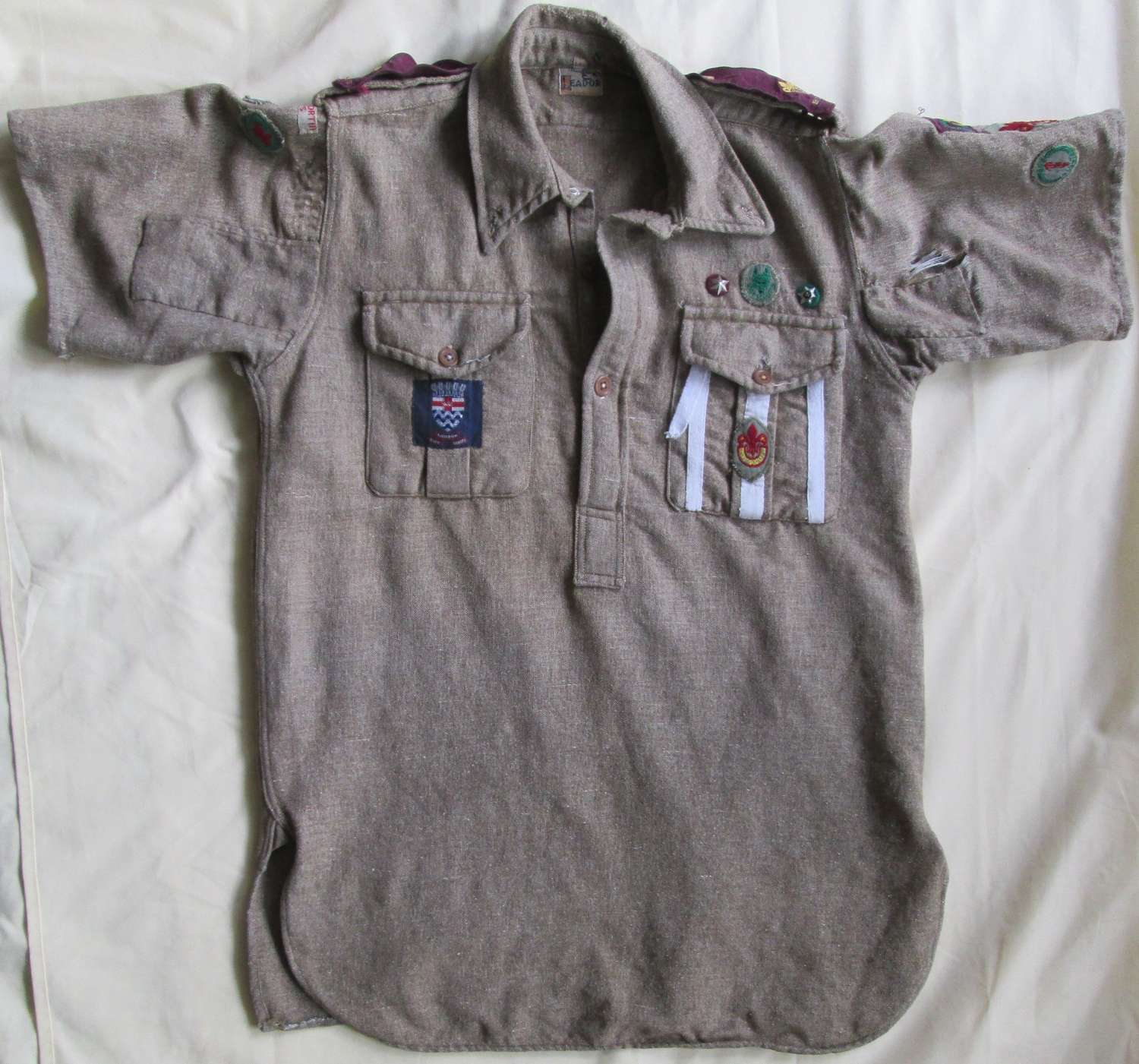 A BOY SCOUT SHIRT FROM THE 1950'S