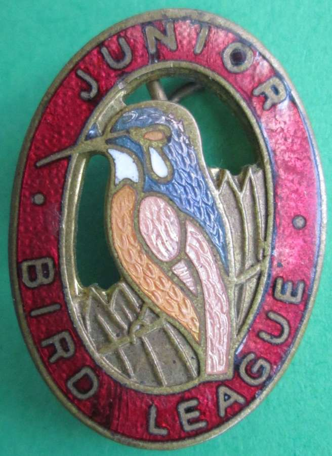 A JUNIOR BIRD LEAGUE PIN BROOCH  THE JUNIOR SECTION OF THE RSPB