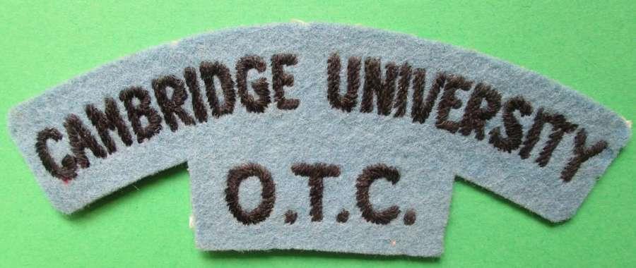 A CAMBRIDGE UNIVERSITY O.T.C SHOULDER TITLE