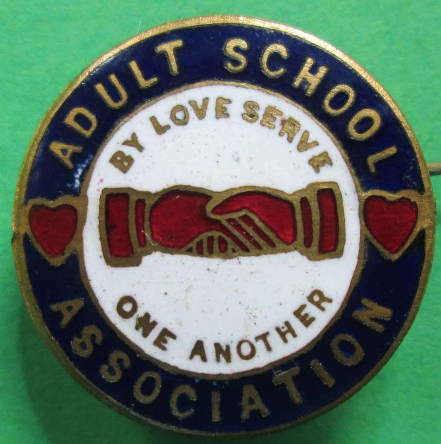 AN ADULT SCHOOL ASSOCIATION BADGE