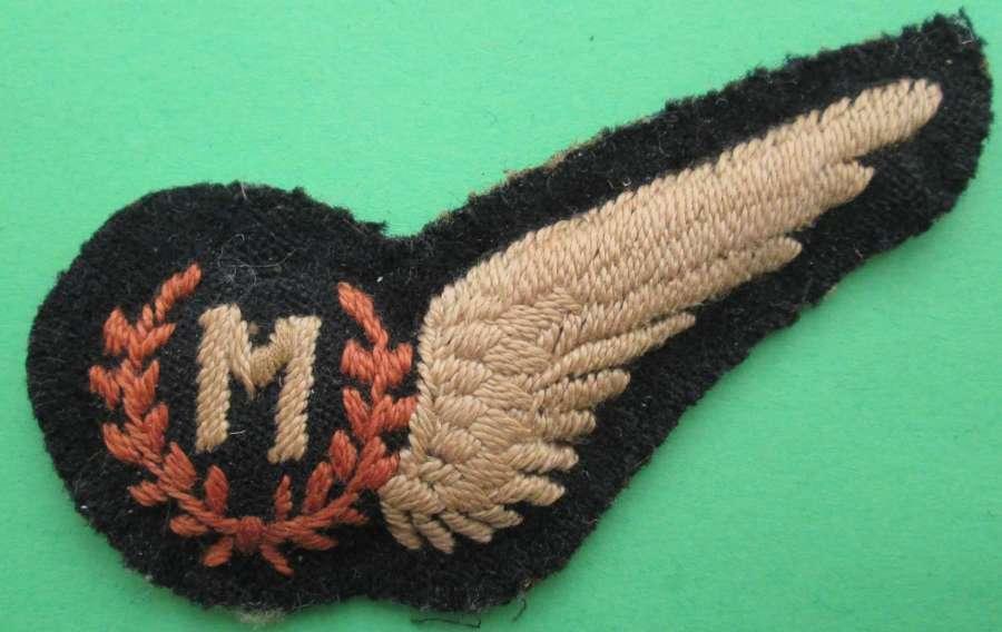 A GOOD SCARCE LATE WWII RAF PADDED METEROLOGICAL OBSERVER BREVET