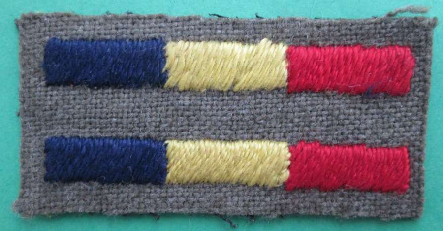 A PAIR OF ARM OF SERVICE STRIPS FOR R.E.M.E